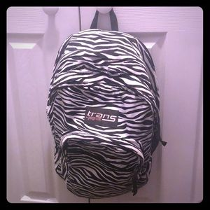 Trans jansoprt zebra backpack